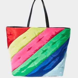 Betsey Johnson Rainbow Tote Bag NWT